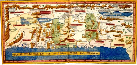 Jerusalem as the earths center judaic treasures claudius ptolemy second century alexandrian astronomer and geographer was the first great cartographer of lasting influence his maps did not survive gumiabroncs Image collections