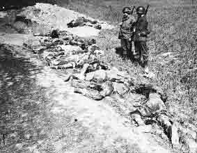 Bodies of Prisoners killed at Gardelegen