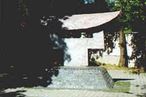 Sculpture to the memory of Japanese diplomat Chiune Sugihara in front of the Jewish Museum