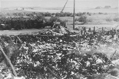 Remains of Jewish Victims Burned in a Barn Near Maly ...