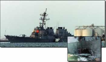 On 12 October an explosives-laden craft was detonated next to the destroyer USS Cole in Aden Harbor, killing 17 US service persons and injuring 39 others.