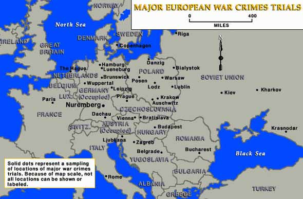 Map Of Germany Nuremberg.Trials Of War Criminals In Europe Map