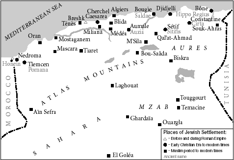 Places of Jewish settlement in Algeria.