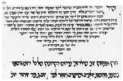 Figure 29. Commentary on the Rosh Ha-Shanah liturgy in arphatic mashait script. 1301 C.E.