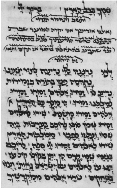 Figure 35. Extract from a prayer book in Yevano-Karaitic mashait script, 1525. London, British Museum, Ms. Or. 1104, fol. 60a.