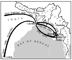 Movement of Jews to and from Burma in the 19th and 20th centuries.