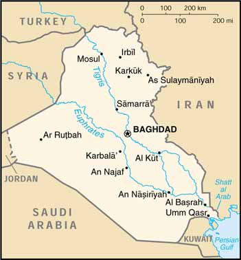 [Country map of Iraq]