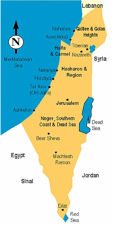 Akko Israel Map