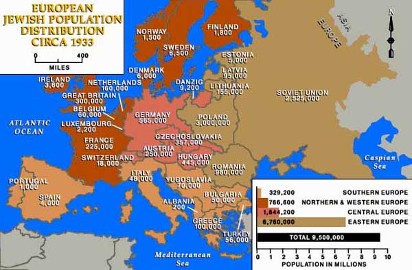 Jewish population of europe before the holocaust map gumiabroncs