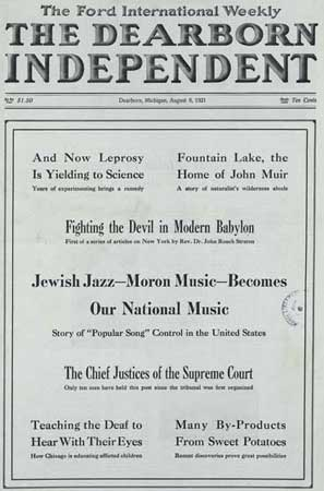 Jewish Jazz - Moron Music - Becomes our National Music--the Story of Popular Song Control in the United States