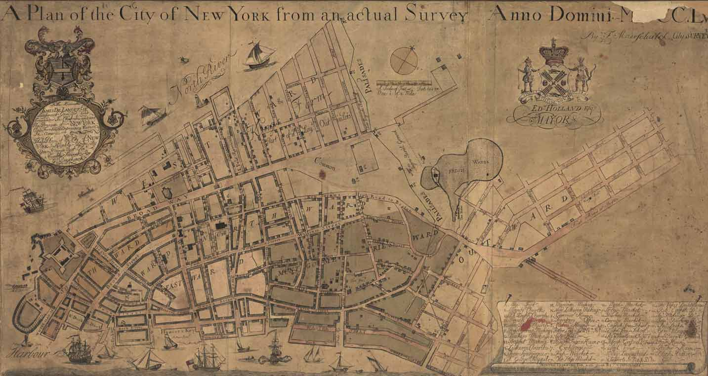 1776 A Plan Of The City Of New York From An Actual Survey Anno Domini M D Cclv New York G Duyckink 1755 Engraved Map Geography And Map Division