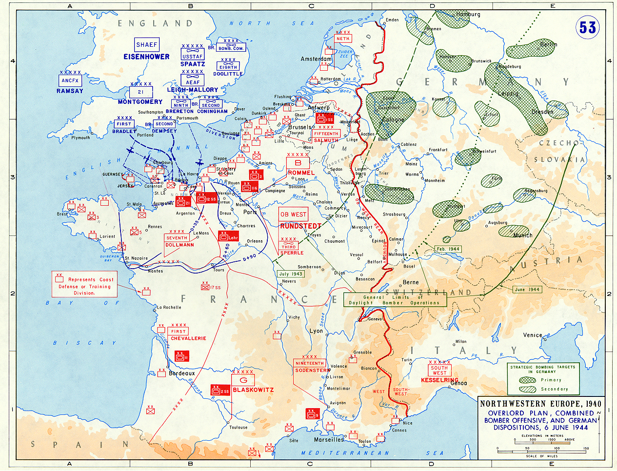 Map Of The Plan For Operation Overlord