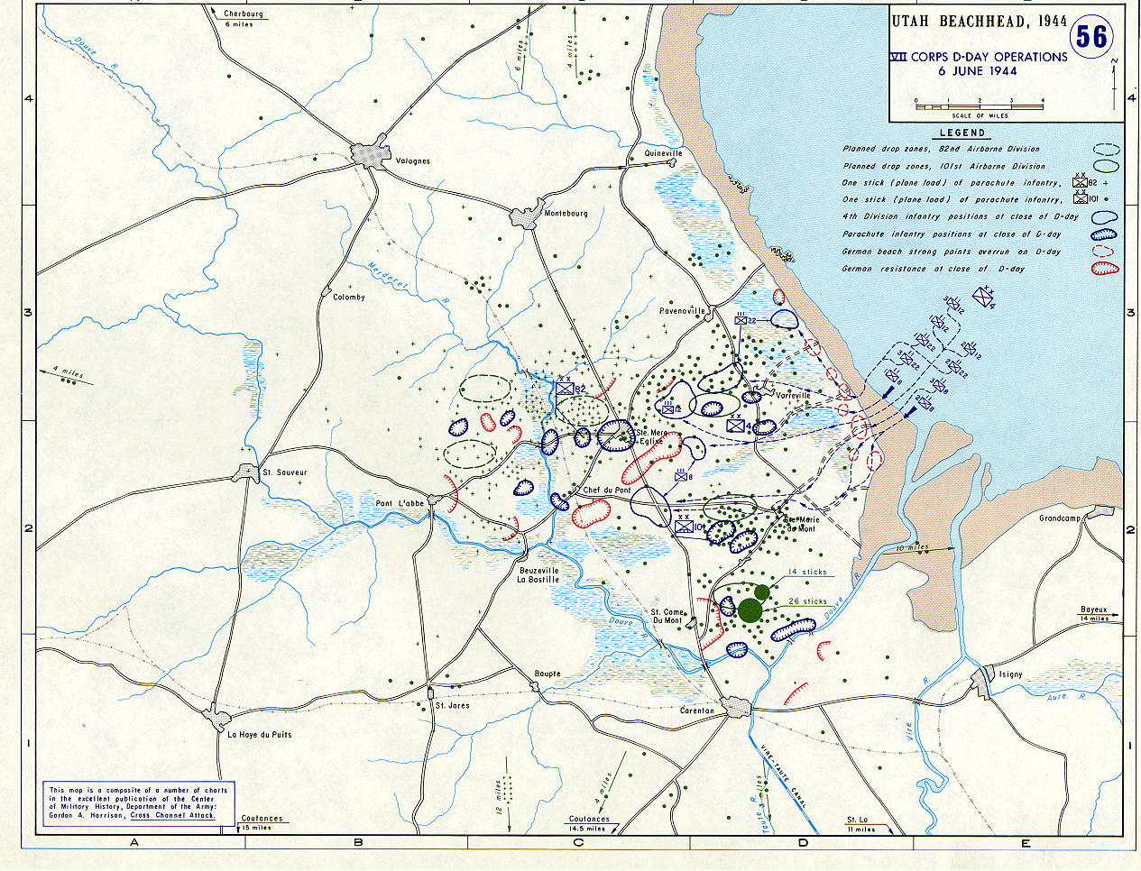 Map Of Allied Invasion At Normandy