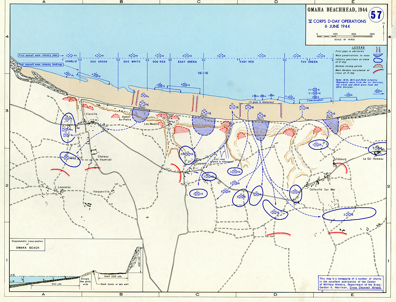 Map Of Omaha Beach