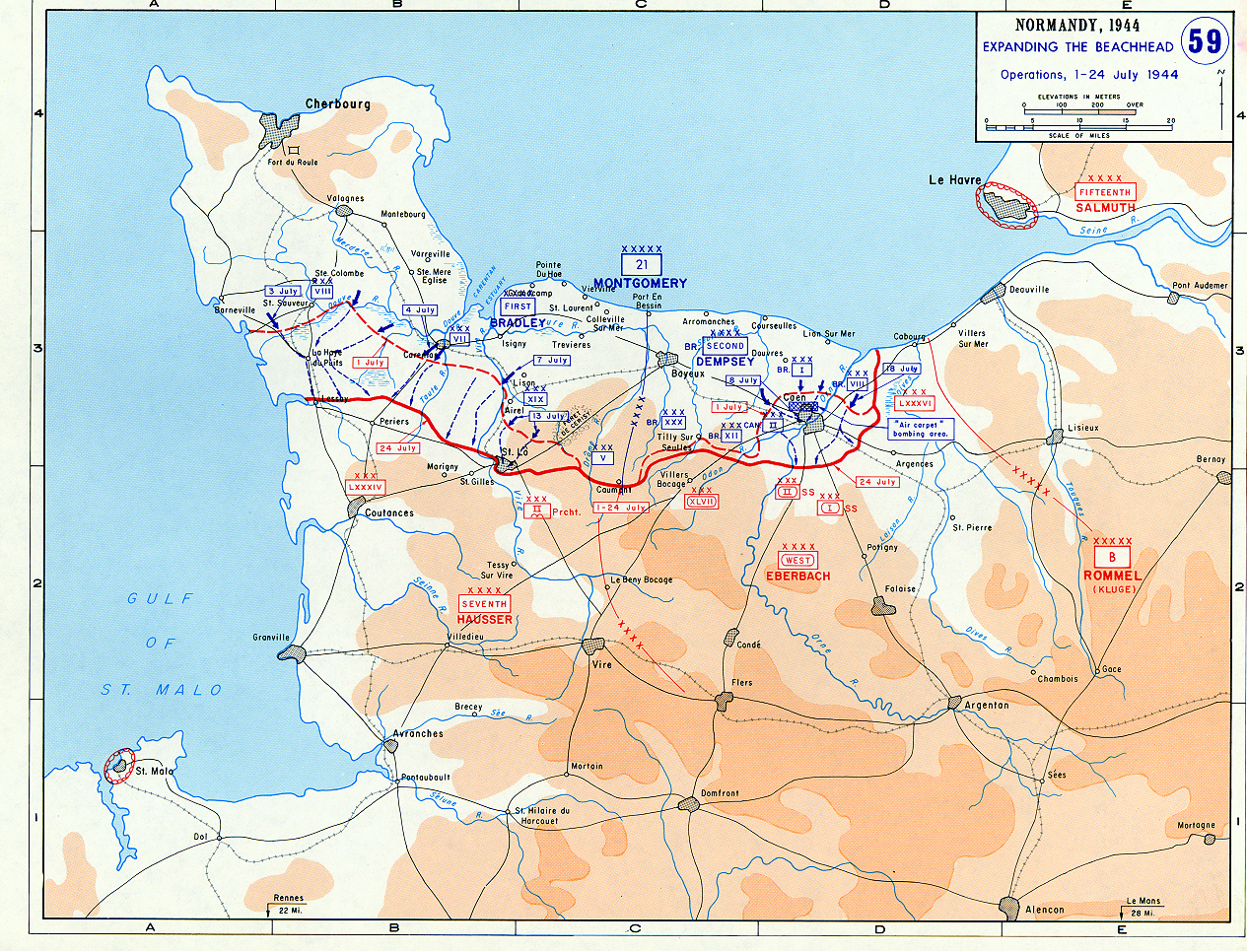 Map Of The Allied Landings In Normandy