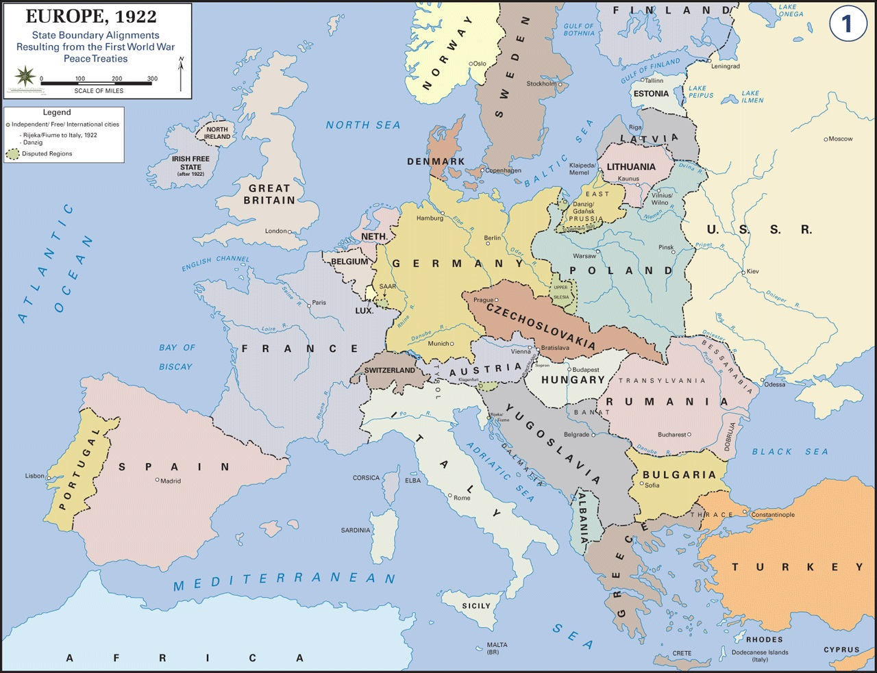 Europe after world war i wwii war theatre maps europe after world war i gumiabroncs Image collections