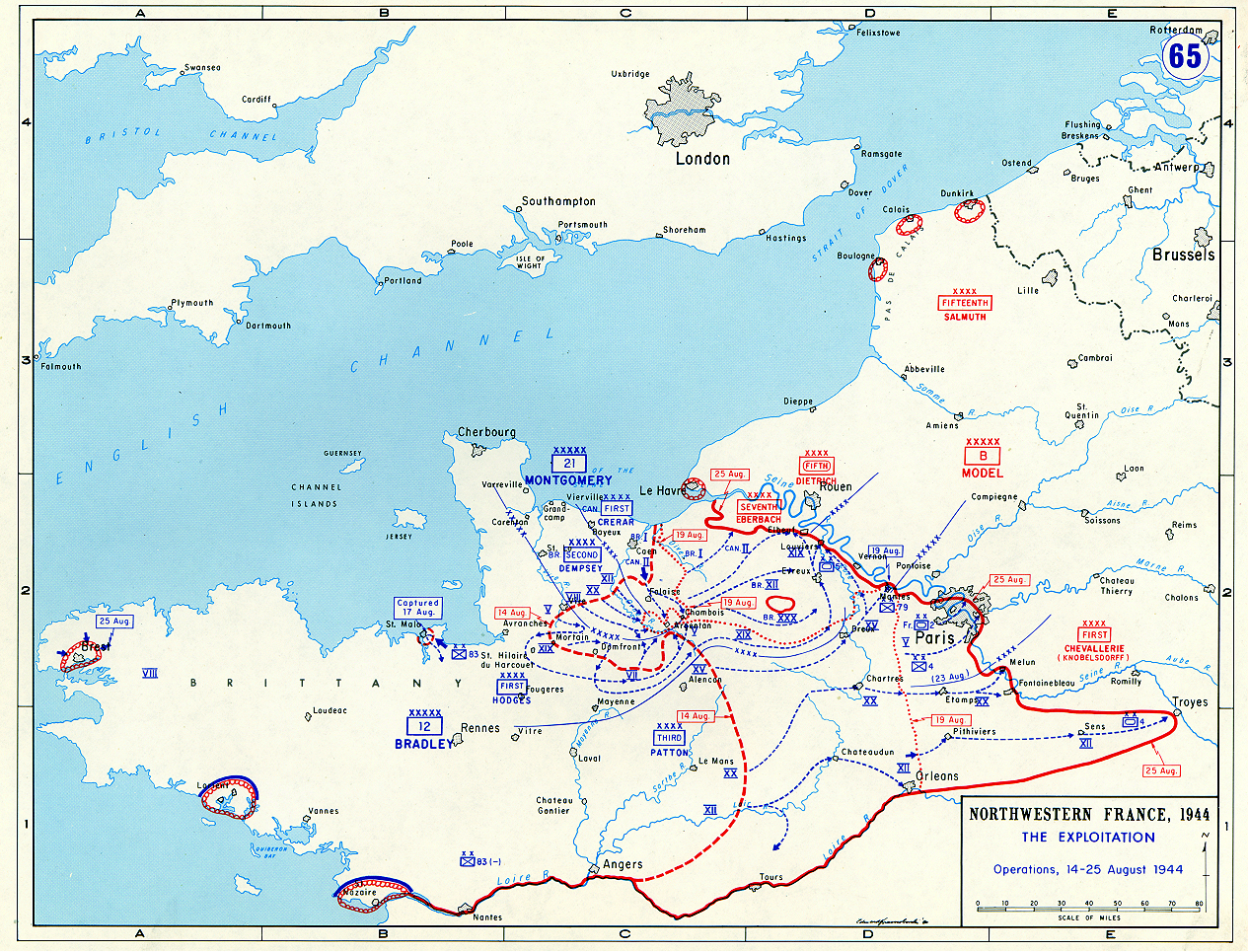 The exploitation of allied positions in northwestern france