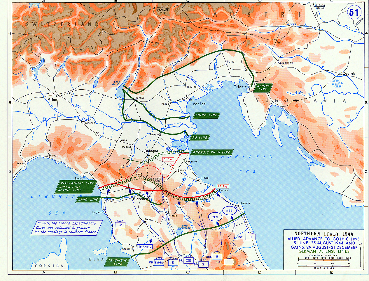 Allied offensives in northern italy