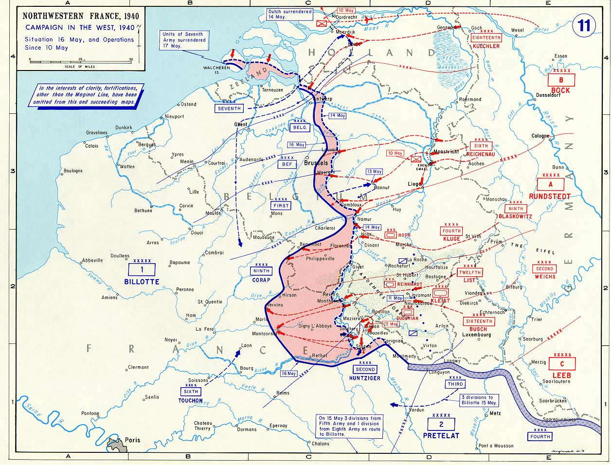 Map of Northwestern France May 1940