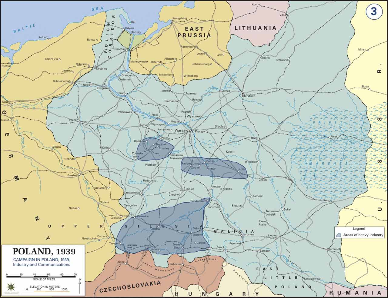 Map of poland prior to world war ii 1939 sources united states military academy gumiabroncs Choice Image