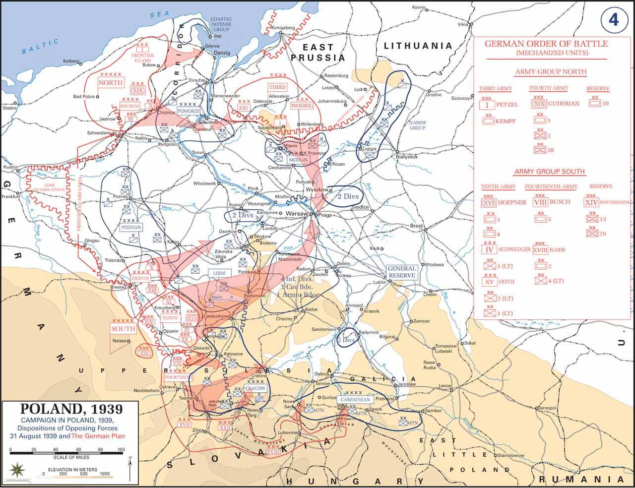 Map of poland prior to german invasion august 1939 wwii war theatre maps poland prior to german invasion gumiabroncs Image collections