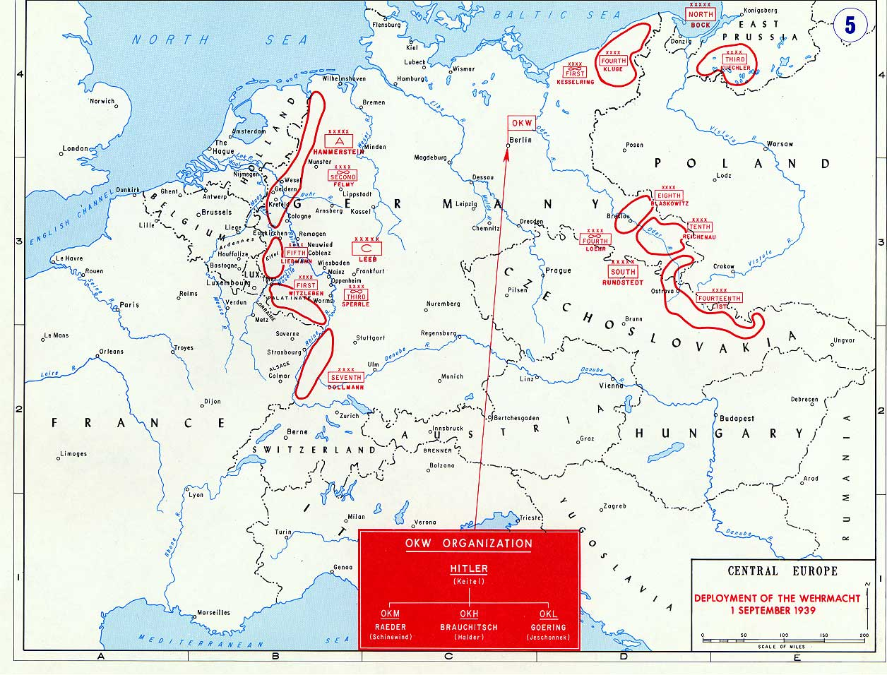 Map Of Germany 1939.Map Of The German Invasion Of Poland September 1939