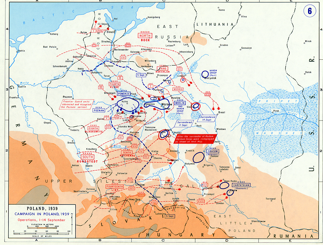 Map Of Germany 1939.Map Of German Campaign In Poland September 1939