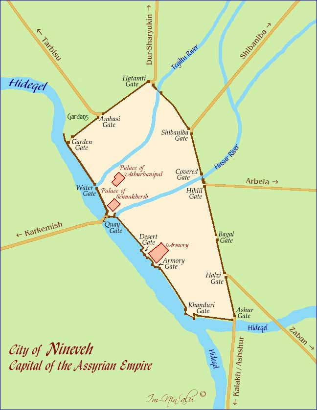 City Of Nineveh Map