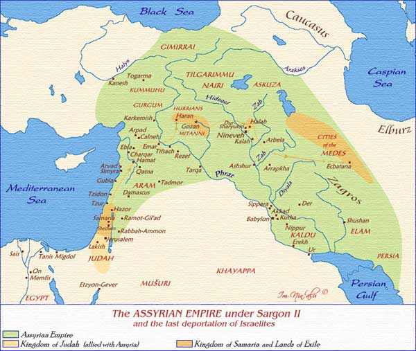 Map of the assyrian empire under sargon ii sources map courtesy of imninalu cannot be republished without consent from author or aice gumiabroncs Images