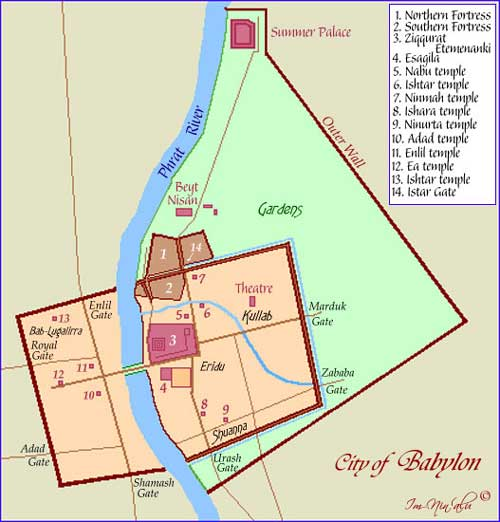 Map of the City of Babylon