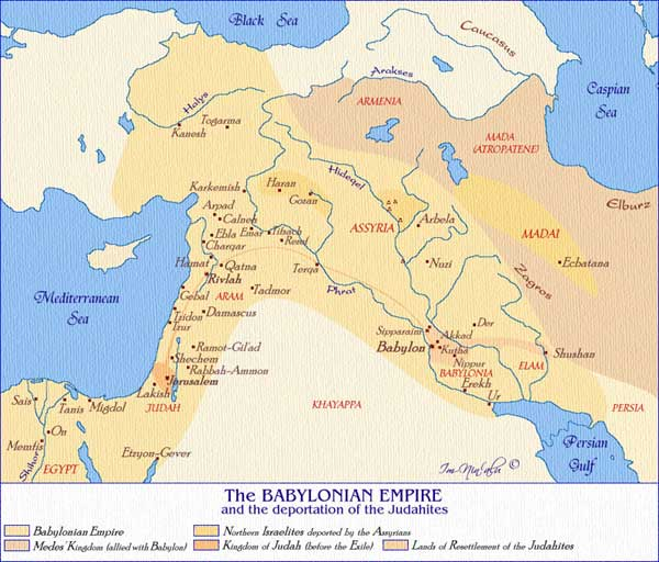 Map of the babylonian empire under king nebukhadnetzar sources map courtesy of imninalu cannot be republished without consent from author or aice gumiabroncs Image collections