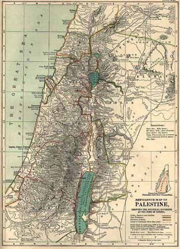 Map Of Palestine At The Time Of Christ