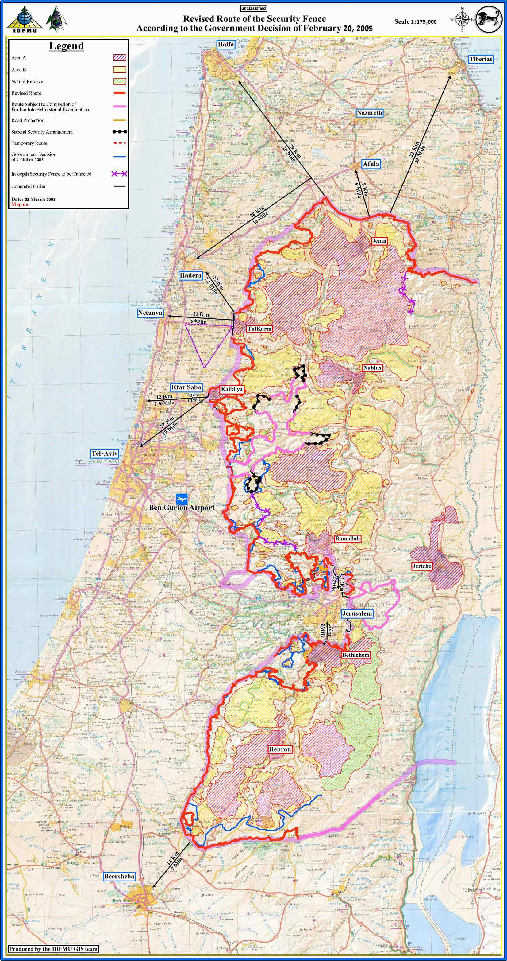 Background Overview Of Israels Security Barriers Alarm System Circuit 5 Zone The Complete Route