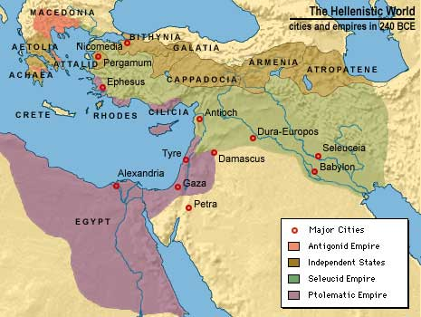 Map of the hellenistic world 240 bce sources historic atlas resource gumiabroncs Image collections