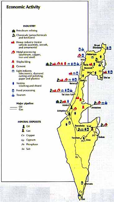 Map Of Israel Economic Activity - Us economic activity map