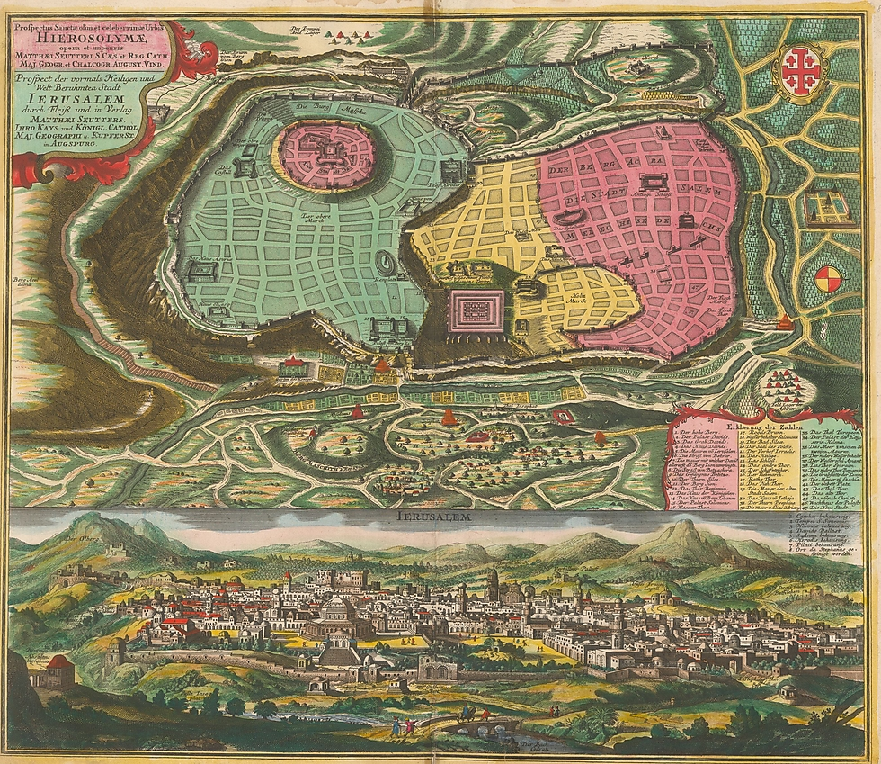 Seutter's Map of Ancient Jerusalem on gang map, fat map, central european time zone map, super map, de map, nd map, car map, old map, un map, mis map, spain and portugal map, n dakota state map, bogota on map, union map, uno map, unr map, red map, umd map, fun map, war map,