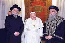 Pope with Rabbi