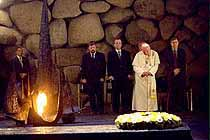 Pope at Yad Vashem