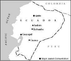 Major Jewish communities in Ecuador.